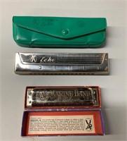 Pair of Antique Harmonicas