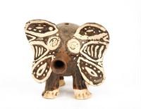 Pottery Elephant and Ceramic Bobblehead Banks