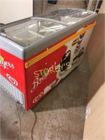 4' Merchandising Freezer on Wheels