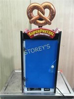 New Super Pretzel Heated Rotating Display CAse