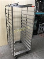 S/S Mobile Tray Rack - 12 trays