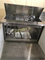 5' Refrigerated Prep Table - as is
