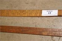 Lufkin Wooden Log measures - (2pcs)
