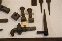 Railroad items: Imperial knife, RR spikes etc
