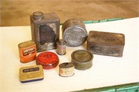 9pc Vintage Tins - Mixed Theme