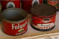 13pc Vintage Tobacco & Coffee Tins