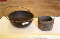 2pc Cast Iron Dutch Oven / Pot