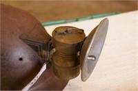 Miner's Helmet w/ Tru-Mark Butterfly Carbide Lamp