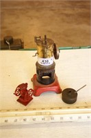 3pc Toy Steam Engine, Sm Oil Can, Toy Coffee Grind