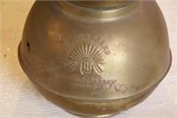 Brass Cuspidor - Redskin Chewing Tobacco - 5c