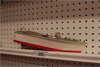 Wood boat - electric battery powered - takeoka