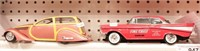 Lead sled woody & 57 Chevy (2pcs)
