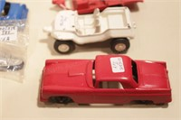 14 Tootsie toy autos, trucks, & 1 ship