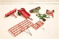 Manure Spreader, & implements (7pcs)