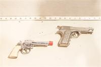 2 toy pistols - Replica 1911 (kid size) & revolver