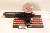 Marx - Dial Typewriter - works