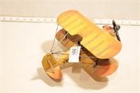 metal hand built bi-plane