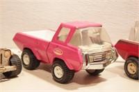 Tonka- Jeep & 3 trucks - 4pcs