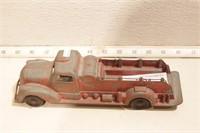 "Metal master fire truck die cast - 10"" long"