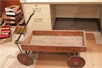 Lone eagle roller bearing wooden wagon