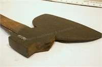 "Hewing axe - marked ""Blodgettigh tool MFG co"""