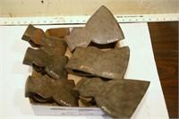 axe heads - variety (7pcs)