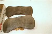 Double headed axe heads (4pcs)
