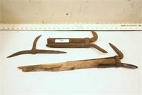 Log pike heads (3pcs)