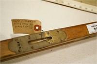 "Stanley 28"" Brass bound Pat 1891 Level"