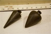 cast plumb bobs (4pcs)