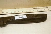 Wood handle monkey wrench