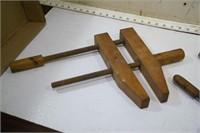 wood clamps (3pcs)