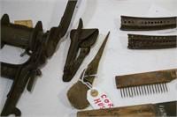 assortment of farm tools & hardware