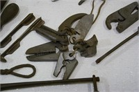 Hoof nippers, file, cable swaging tool & more