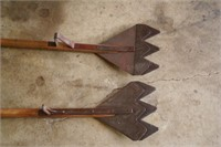 2pc D-Handle Hay Knives - For Loose Hay