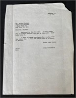 Letter Steinbeck sent to his Lawyer about Bad News