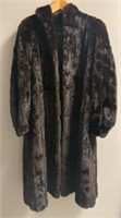 Elaine Steinbecks Fur Coat with embroidered name