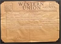 Telegram to Elaine from John Steinbeck April 1955