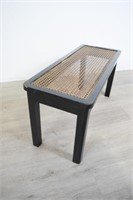 Black Bench With Canned Seat