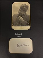 Photos and letter from Poland 1963 and Signature