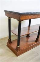 Marble Top Empire Style Console Table