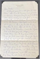 Elaine letter to her Mother from White House 1964