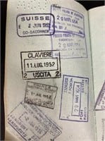 Elaines Passports - Look at all those stamps!