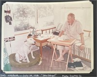 Photo of John Steinbeck with Letter