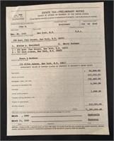 Copy of John Steinbecks Estate Tax in 1969