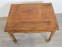 Side Table on Brass Casters