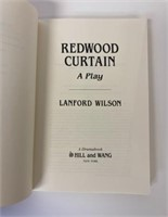 Redwood Curtains signed by Lanford Wilson