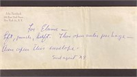 Love note from John Steinbeck to Elaine and Sable