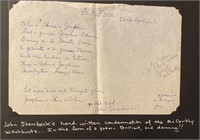 McCarthy Witchhunt Poem - Steinbeck wrote Trials