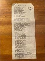 Poem in Spanish titled Mayo